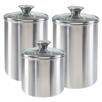Great Stainless Steel Baking Hot Details About Home Kitchen Airtight Sealed  Canister