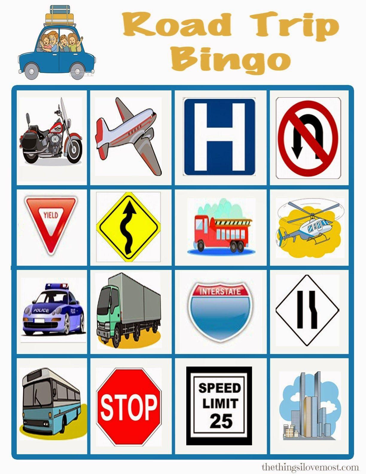 Free Printable Road Trip Travel Games 10 Ways To Keep