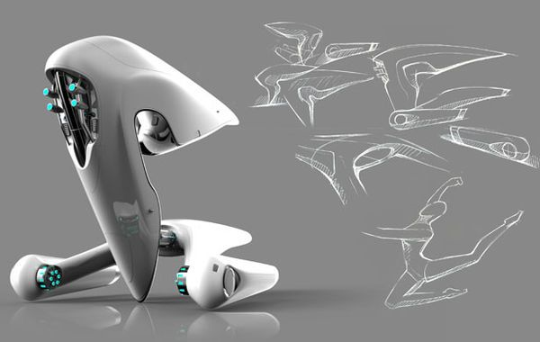 Le Industrial Design un designer imagine le futur vaisseau spatial de la nasa sketches
