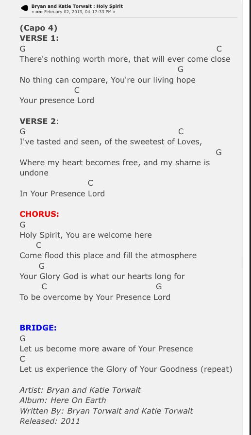 Holy Spirit guitar Chords | GUITAR | Pinterest | Guitar chords, Holy ...
