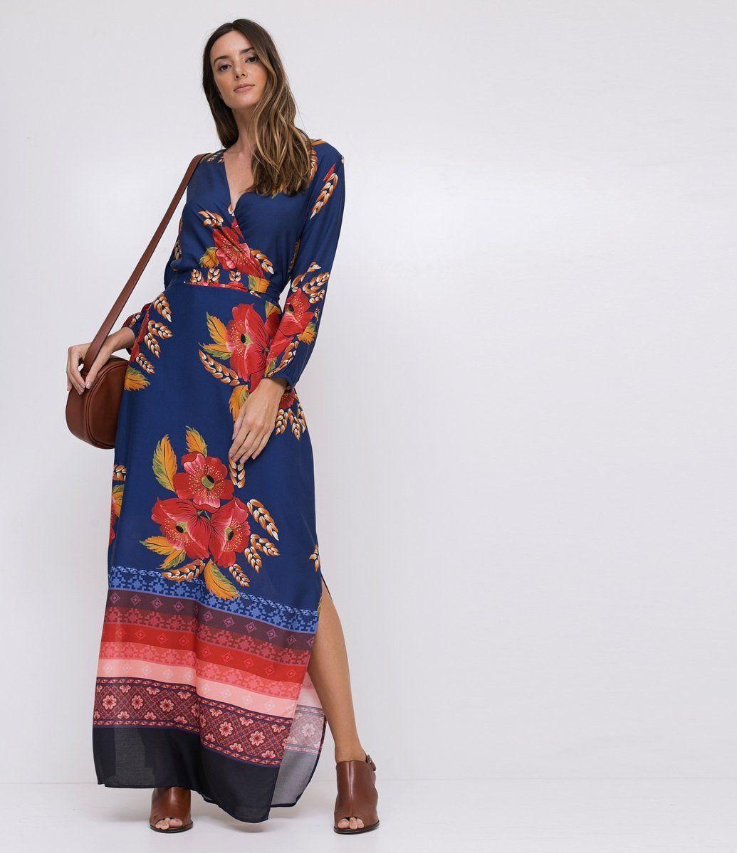1ee4136c7621 Vestido Longo Floral - Renner | Renner | Vestido longo floral ...