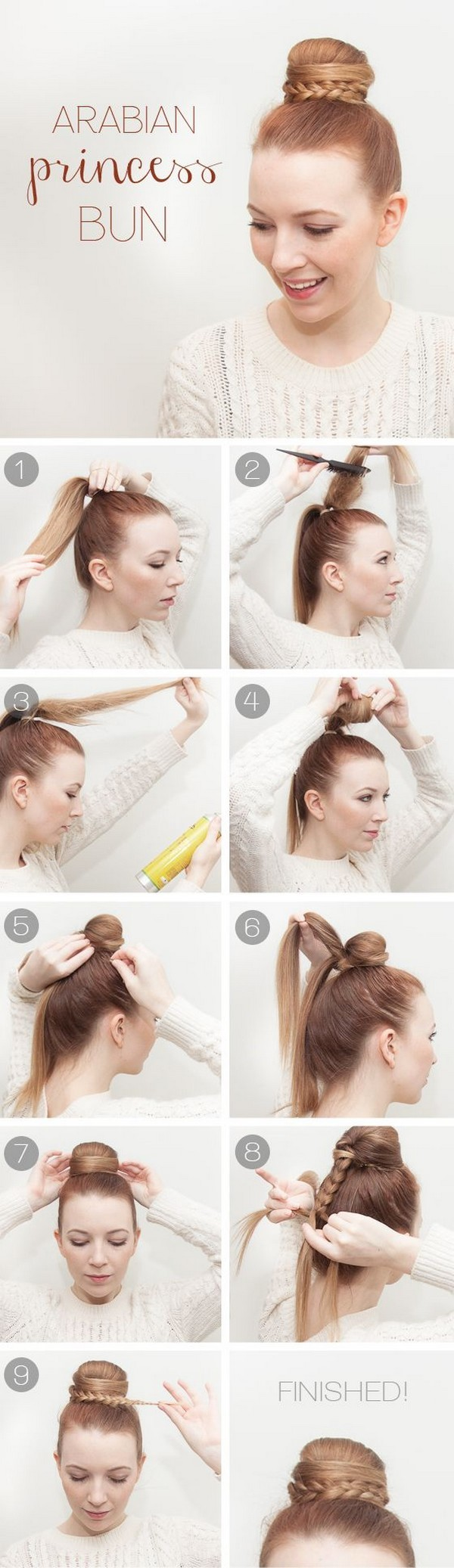 Arabian princess bun hairstyle tutorial & Hairstyles For College ...