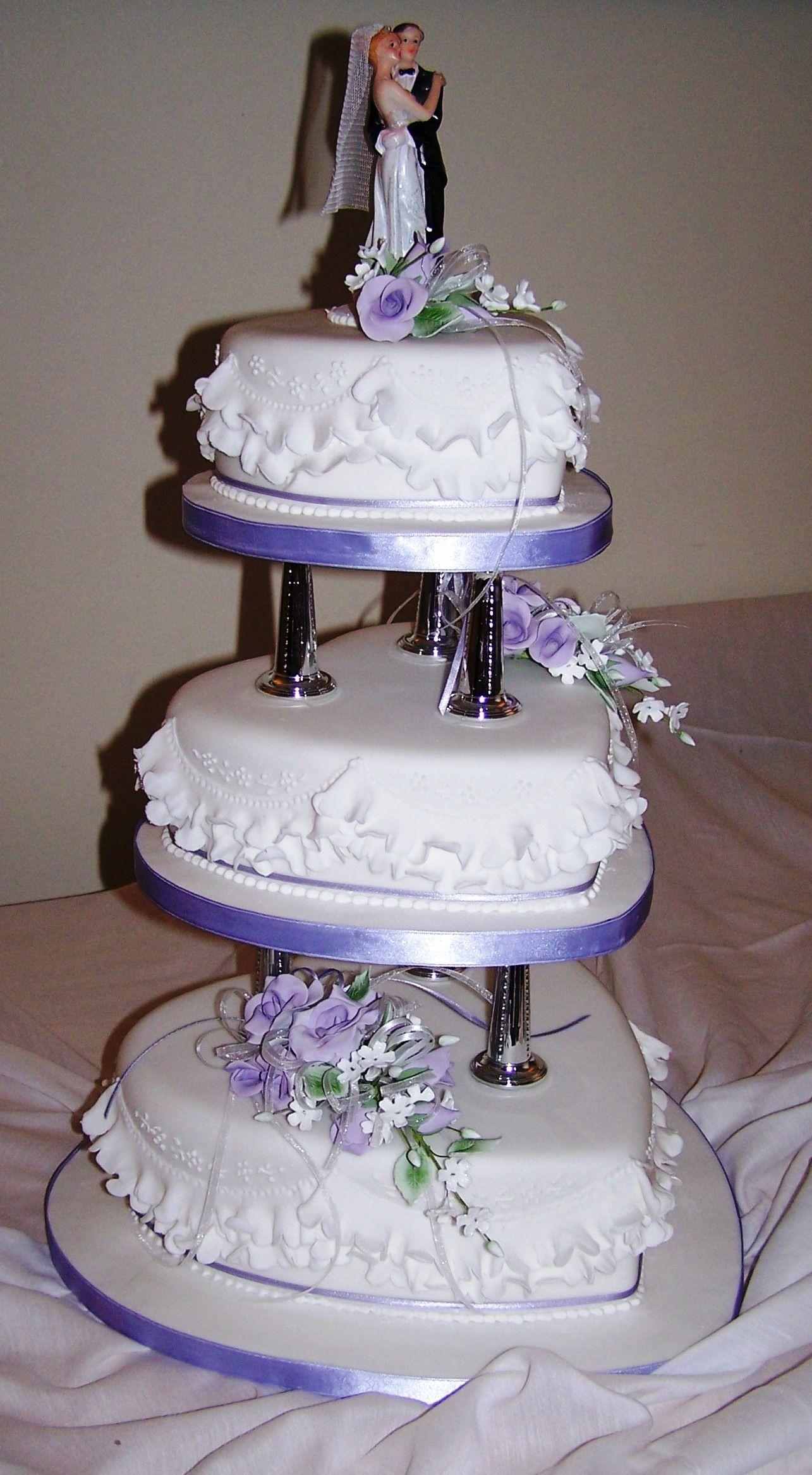 3 Tier Traditional Wedding Cake With Garrett Frills Sugar Roses