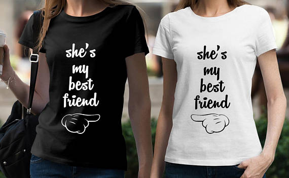 2fba9d0b2 BEST FRIEND Shirts Set of 2 BFF tshirts set Tumblr Shirts Best Friends T  shirt Set Matching Set Best