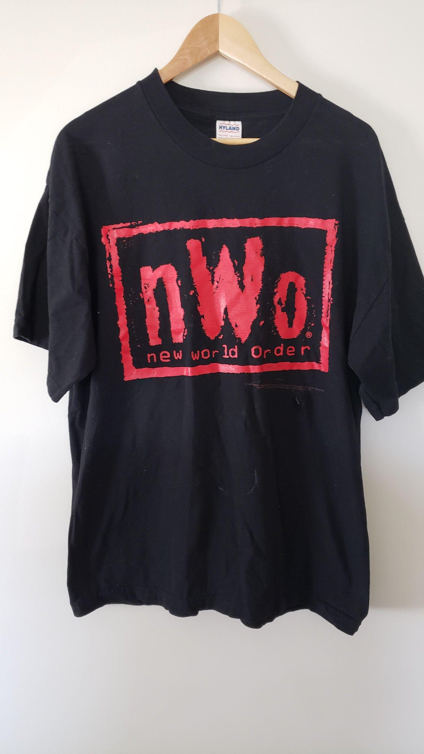 e04c66b3 Vintage 90's WCW nWo Wolfpac Wrestling Double Sided Shirt - Size XL WWE Wwf  Nwa Wrestlemania John Cena Sting Scott Hall Kevin Nash by RackRaidersVtg on  Etsy