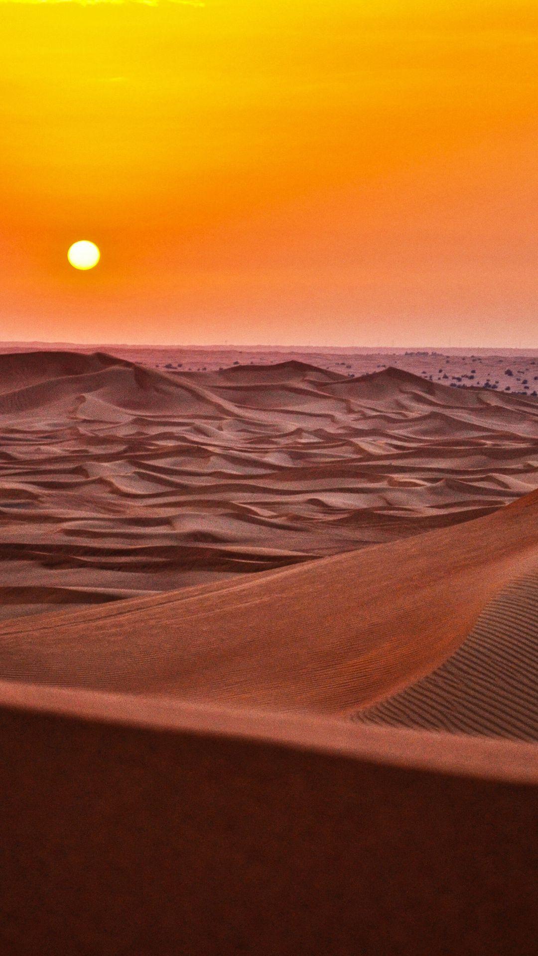 Sunset, desert, landscape, dunes wallpaper Wallpaper