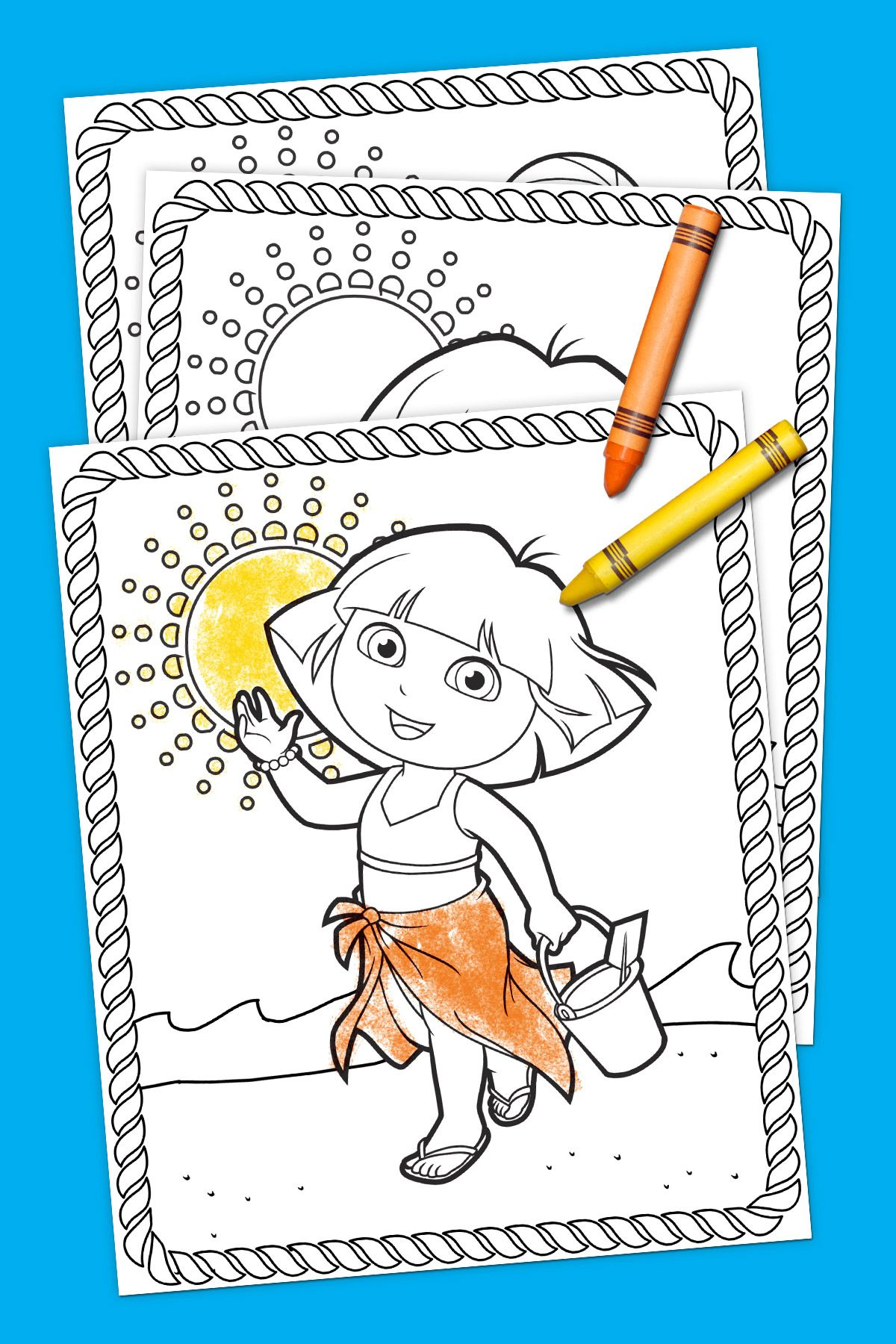 Dora Summertime Coloring Pack | Coloring Pages | Pinterest ...