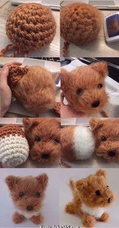 Prototype Amigurumi Dog – crochet de brosse – magazine de design   – Häkeln anleitung