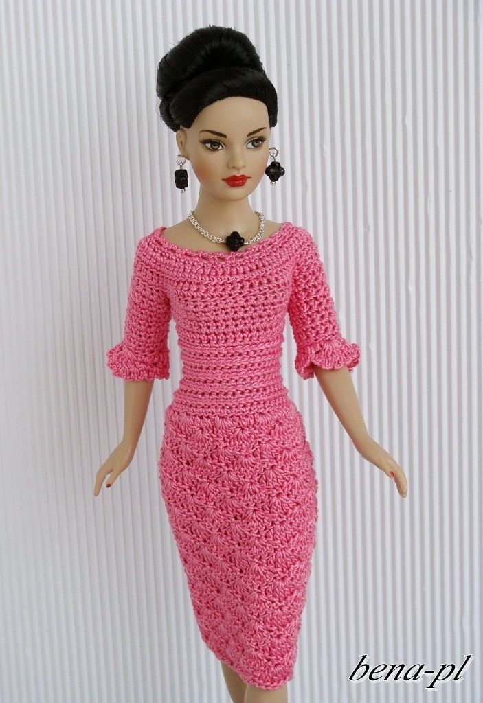 free crochet doll costumes for barbie dolls - Google Search | doll ...