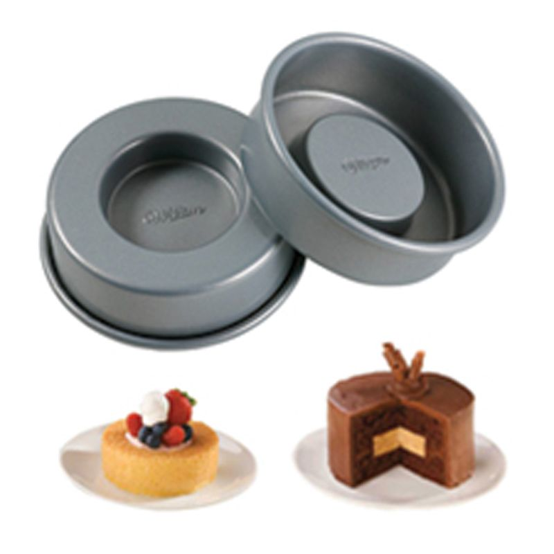 Create filled single-serving desserts with incredible flavor combinations using these convenient non-stick pans. The patented recessed design forms a contour you can fill with ice cream, fruit, mousse and more.
