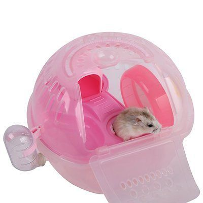 Pet Hamster House Travel Carrier Plastic Gerbil Dwarf Hamster House Cage Small Hamster Life Dwarf Hamster Cages Dwarf Hamster