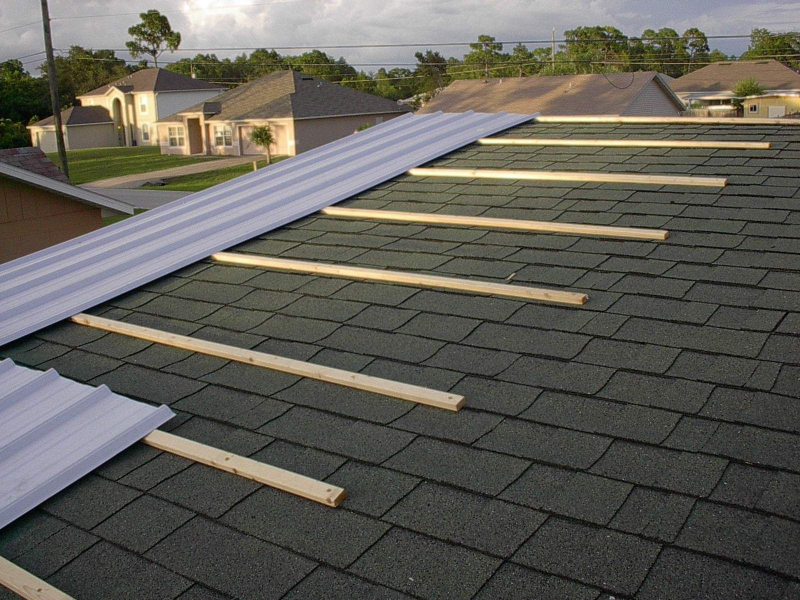 Metal Roof Purlins Over Shingles