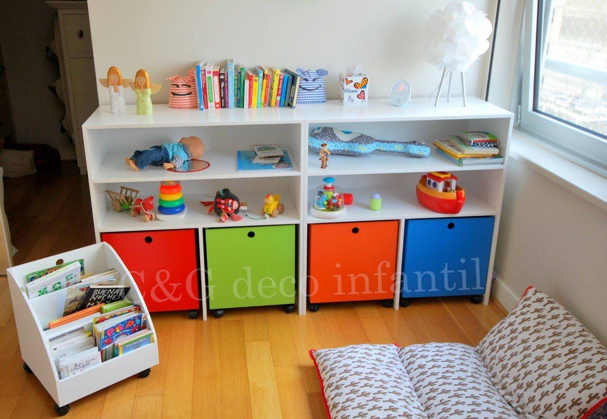 Mueble cubos baul guardajuguetes organizador infantil for Muebles habitacion infantil nina