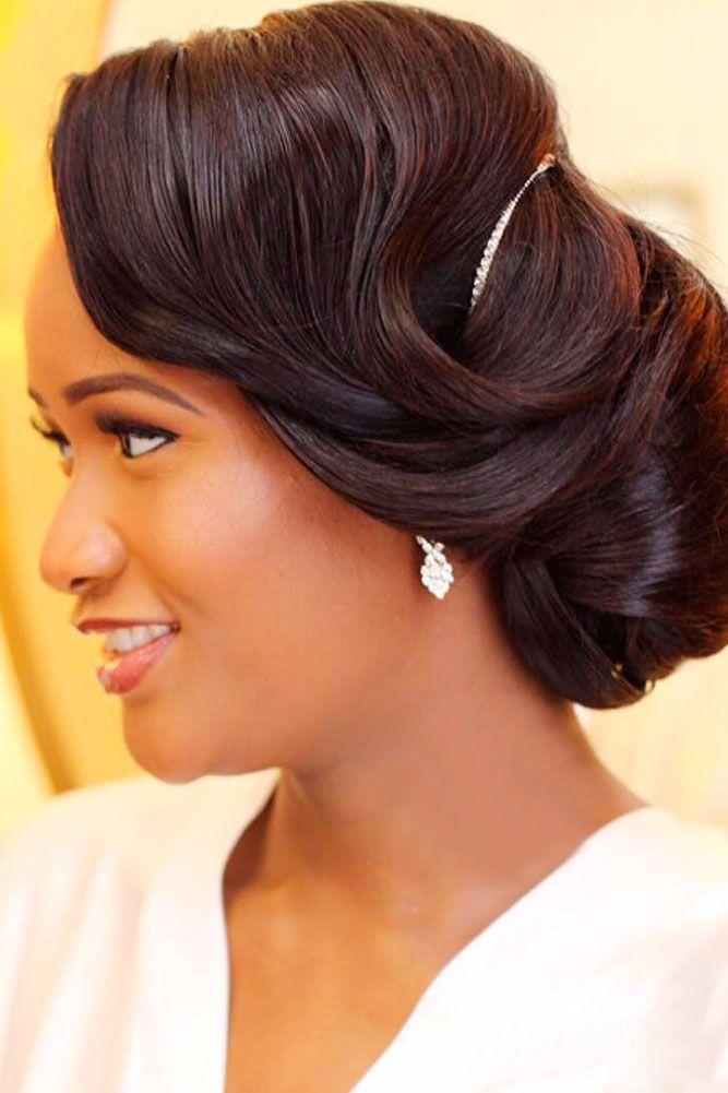 36 Black Women Wedding Hairstyles | Black women, Black wedding ...