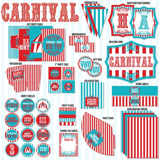 circus birthday party printable vintage circus collection. Black Bedroom Furniture Sets. Home Design Ideas