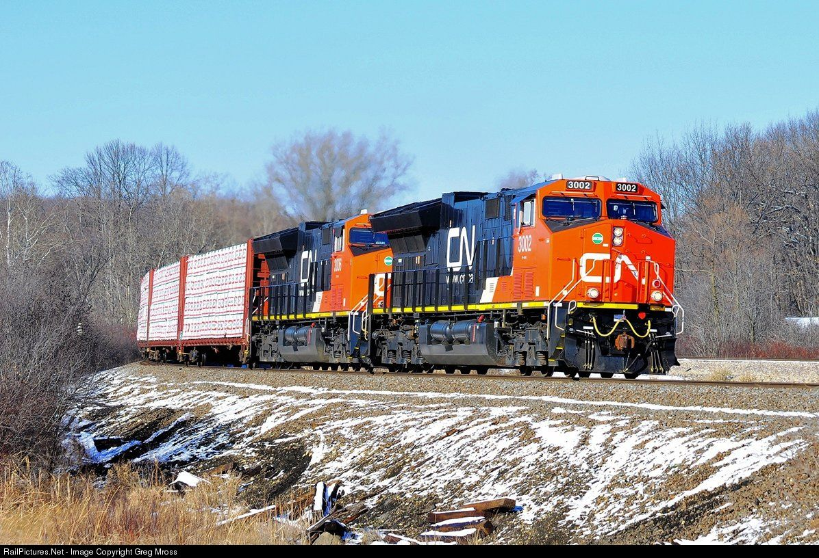RailPictures.Net Photo: CN 3002 Canadian National Railway GE ET44AC at Slinger, Wisconsin by Greg Mross