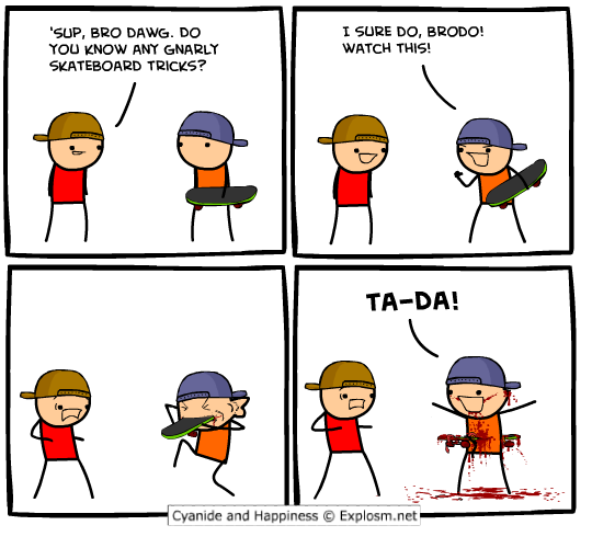 Sorry, that Cyanide comic strip share
