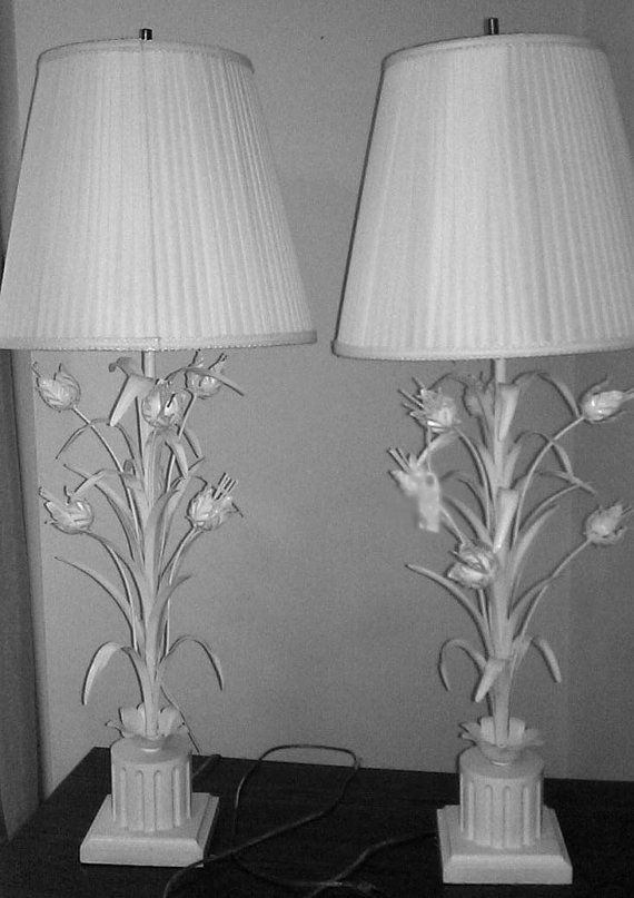 Lamp sets · lovely whites from teamvintageusa by dr erika muller on etsy