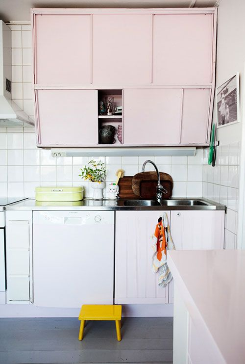 Pink Kitchen Cabinets Pastels Home Kitchens Kitchen Inspirations