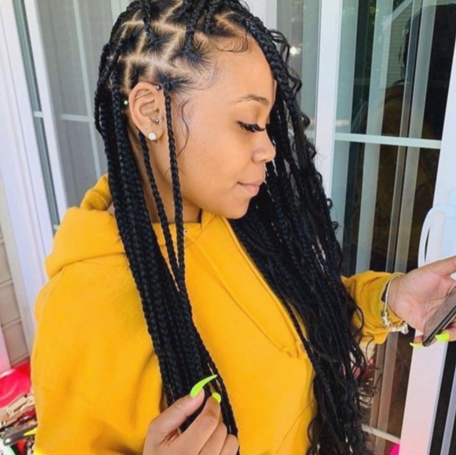 15 Hairstyles Braided Videos Zendaya Braided Hairstyles Box Braids Hairstyles African Braids Hairstyles