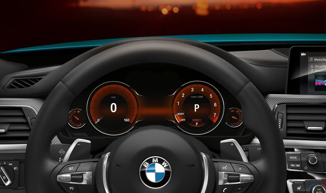 Driver S Eye View Of The 2019 4 Series Coupe With Steering Wheel
