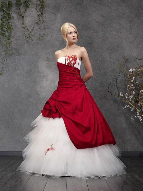 Robe mariee rouge et blanche | Robe marié