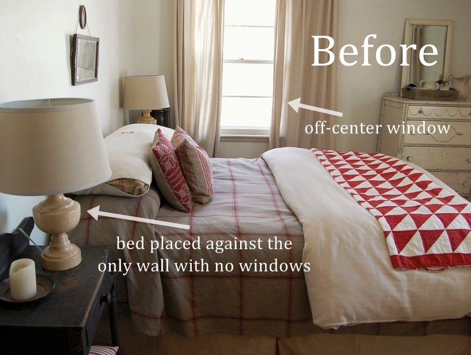 Off Center Window Behind Bed | New Bedroom Layout I Love This Bed!