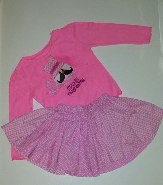 Infant Toddler Girls Tee and Twirly Skirt Set by BeeBeesBoutique, $46.00