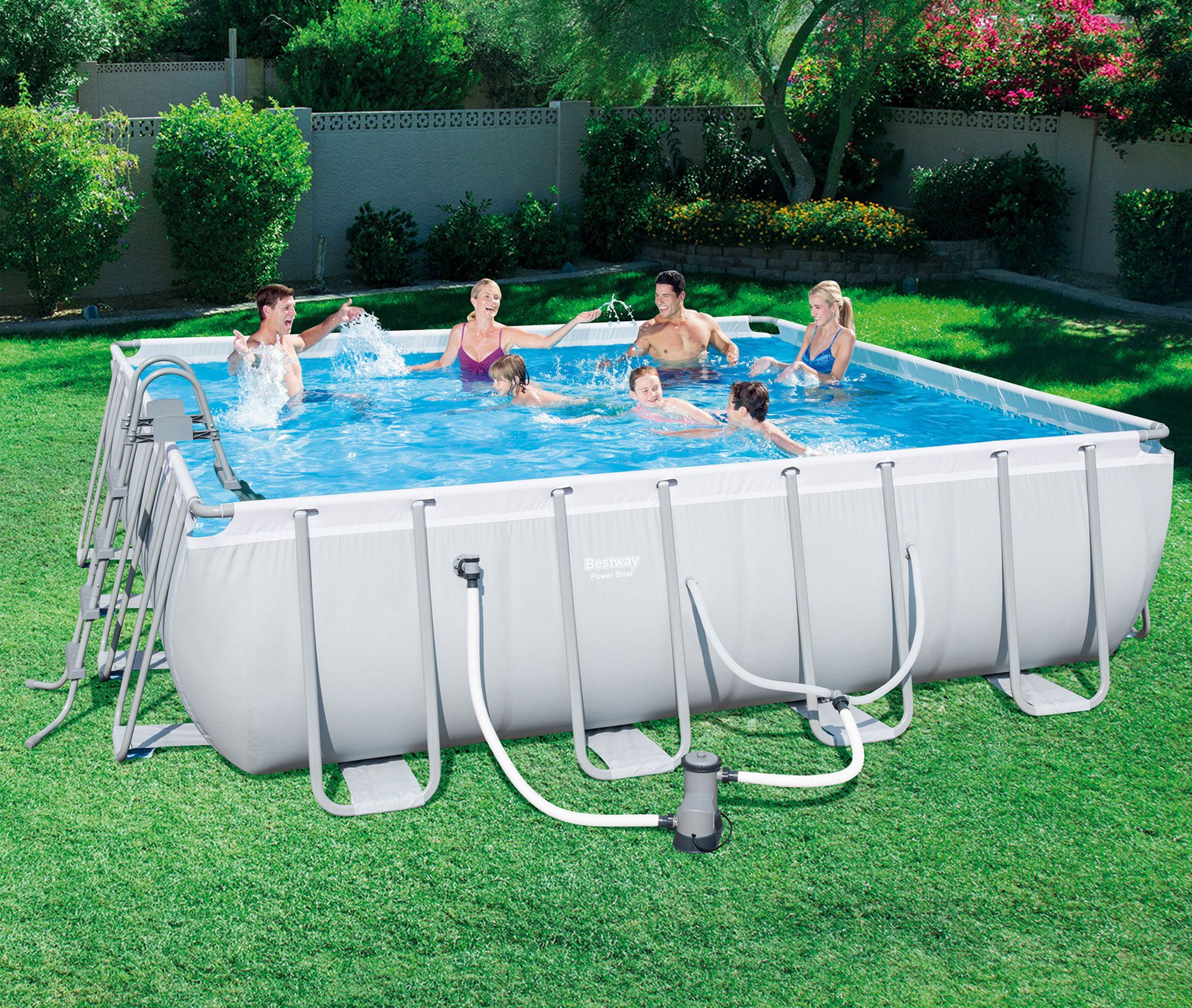 Beat The Heat This Summer In This Bestway 16 X 48 Steel Pro Frame Above Ground Pool Set Rectangular Pool Above Ground Pool Pool