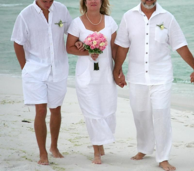 Images Of White Linen Wedding Dresses On Beach Beachwear Casual Mid Length