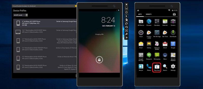 visual studio android emulator add