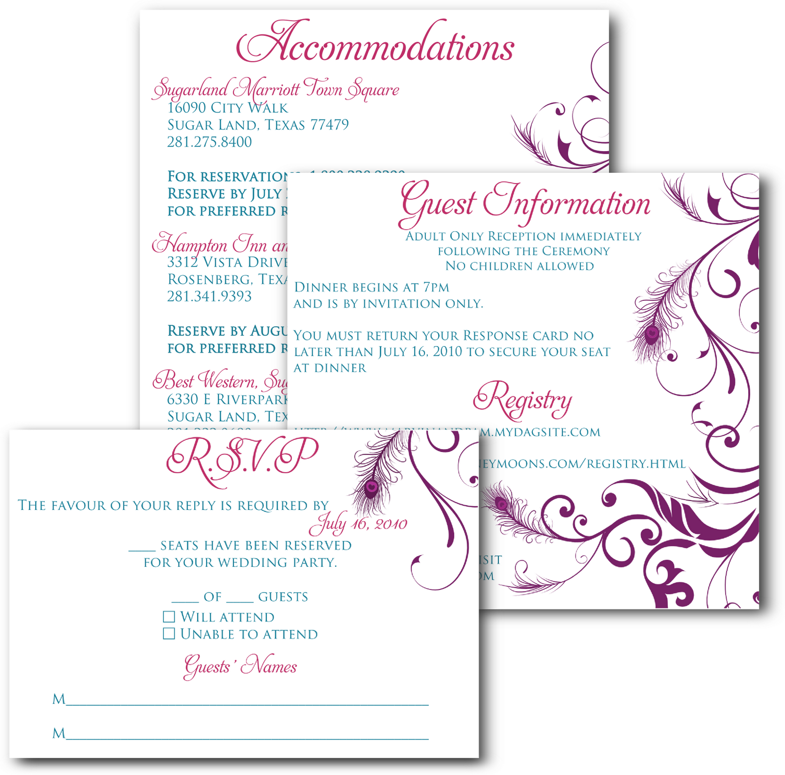 Wedding Invitations And Inserts Google Search