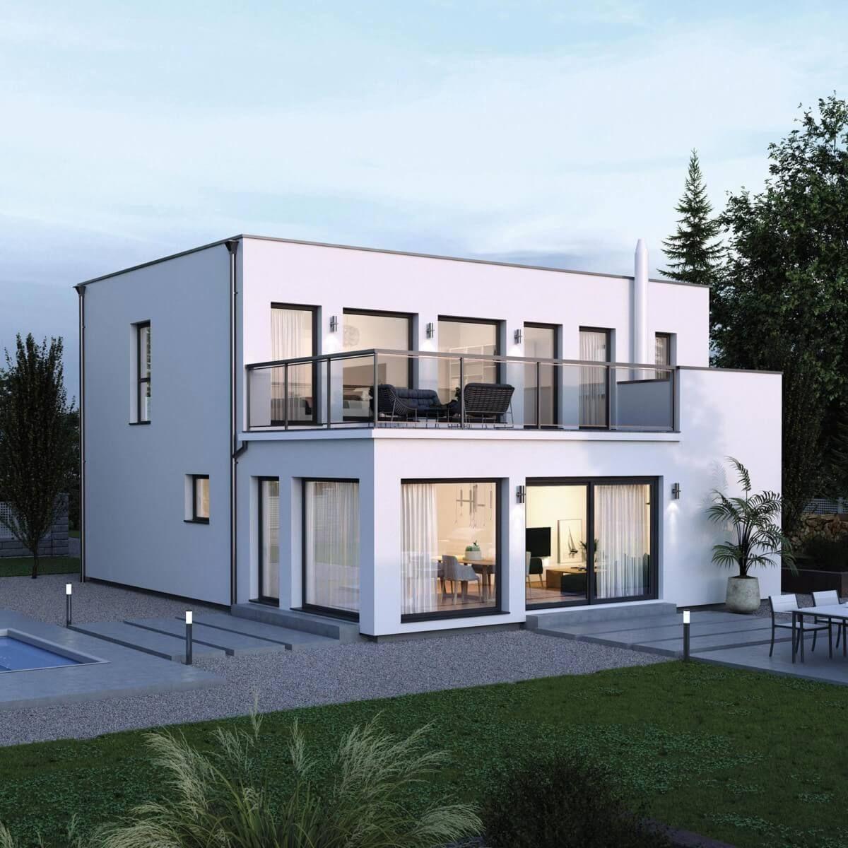 Bauhaus Stadtvilla ELK Haus 164 - ELK Fertighaus ...