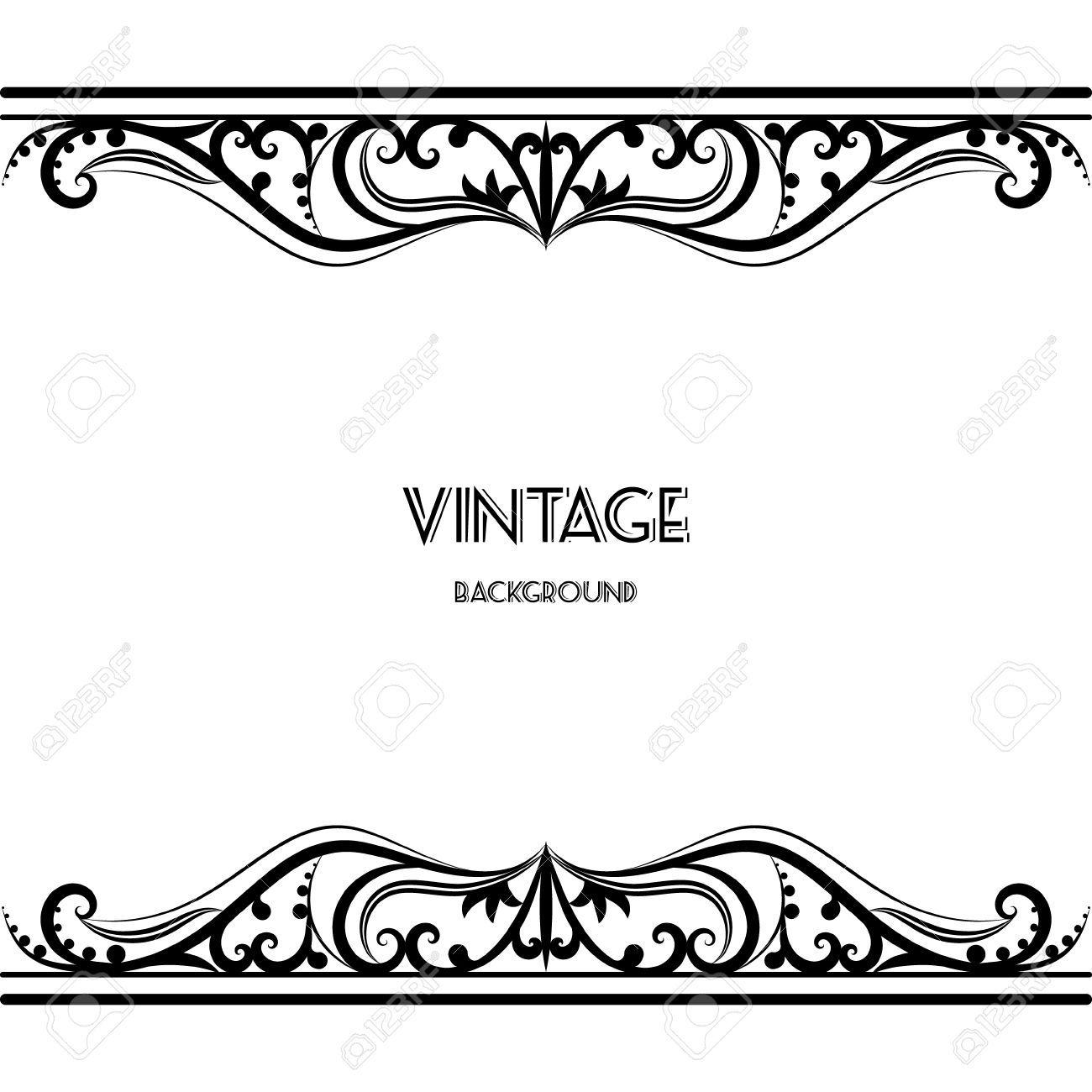 44580887-Dise-o-del-marco-de-fondo-de-la-vendimia-del-vector-negro ...