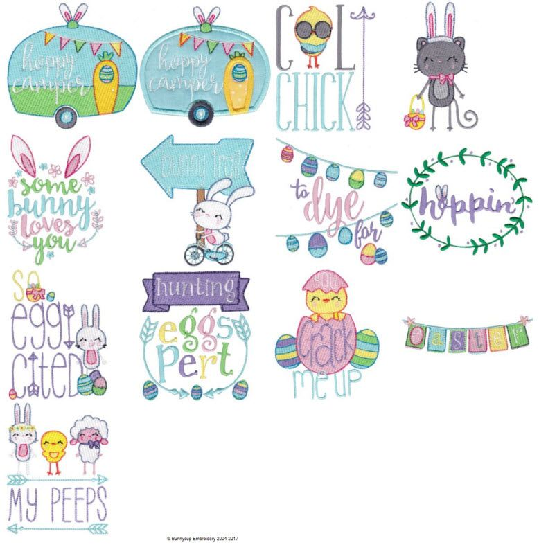 Easter Sentiments Too Embroidery Designs At Bunnycup Embroidery