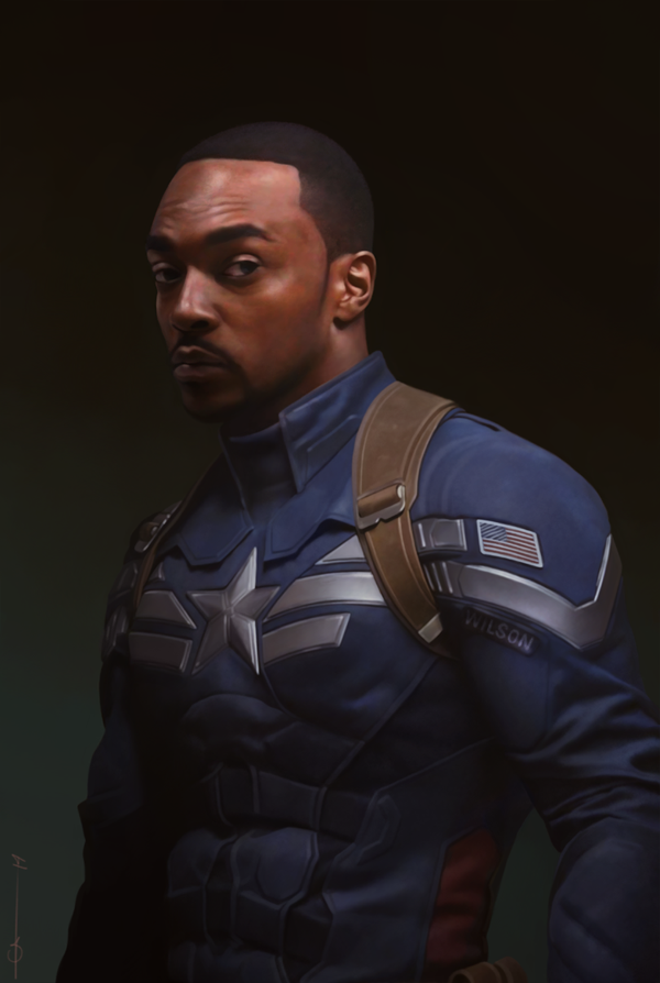 This Poster of Anthony Mackie as CAPTAIN AMERICA Is The ...