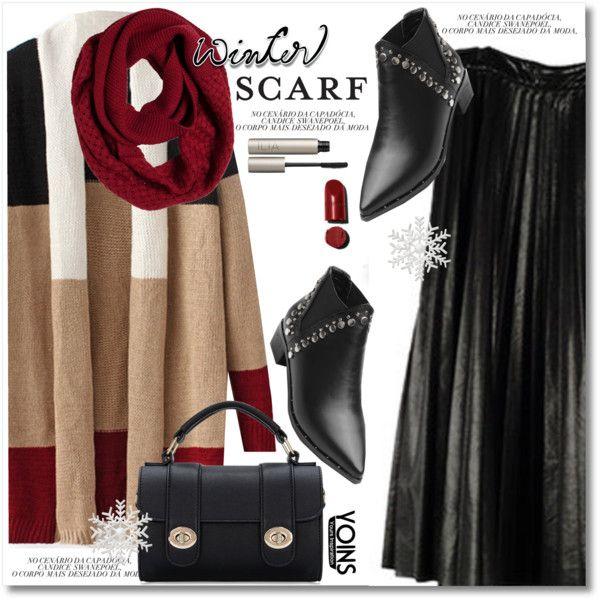 Winter Scarf Style by svijetlana on Polyvore featuring moda, prAna, Ilia, scarf, yoins and loveyoins