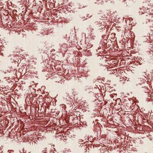 Waverly Country Life Garnet Red Toile Home Decorating Fabric Toile Wallpaper Red Toile Blue Toile