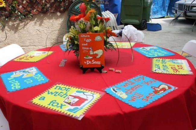 Dr. Seuss Inspired Party Table Decoration Ideas & Dr. Seuss Inspired Party Table Decoration Ideas | Dr. Seuss Bday ...