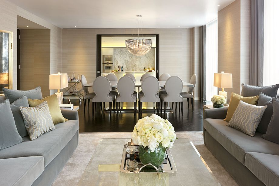 Gray And Gold Paris Apartment The Heron City Of London