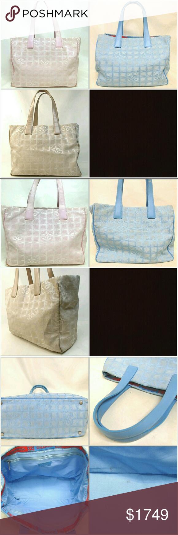 3 set lot Chanel logo travel jacquard shoulder bag 3e51f0ec37
