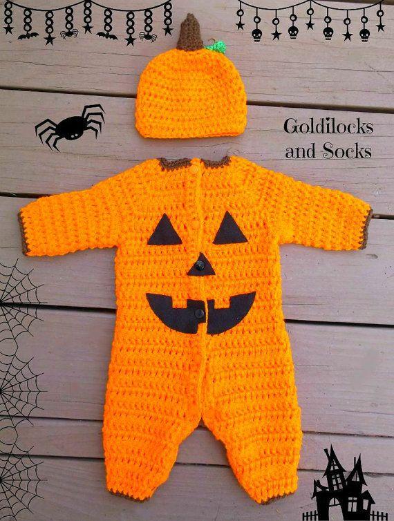 Baby Halloween costume crochet pumpkin by GoldilocksandSocks ...