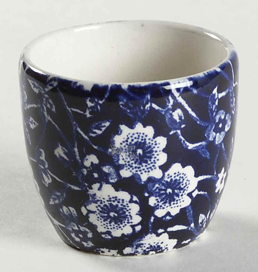 Staffordshire CALICO BLUE (BURLEIGH STAMP) Egg Cup 1980316 in Pottery \u0026 Glass Pottery & Staffordshire CALICO BLUE (BURLEIGH STAMP) Egg Cup 1980316 in ...
