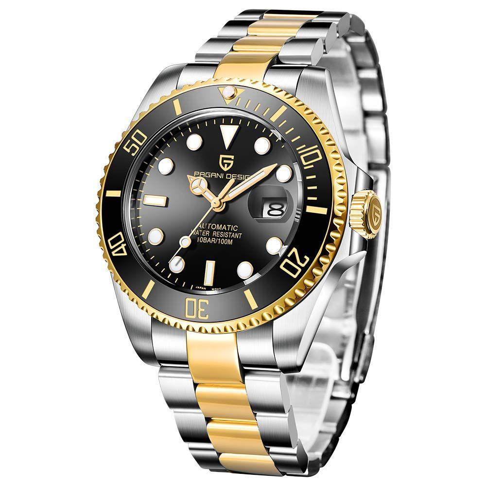 Pagani Design Herren Analoge Wasserfeste Automatikuhr Mit Edelstahlarmband 103 99 4 0 Von 5 Sternen Herren Watches For Men Waterproof Watch Watch Design