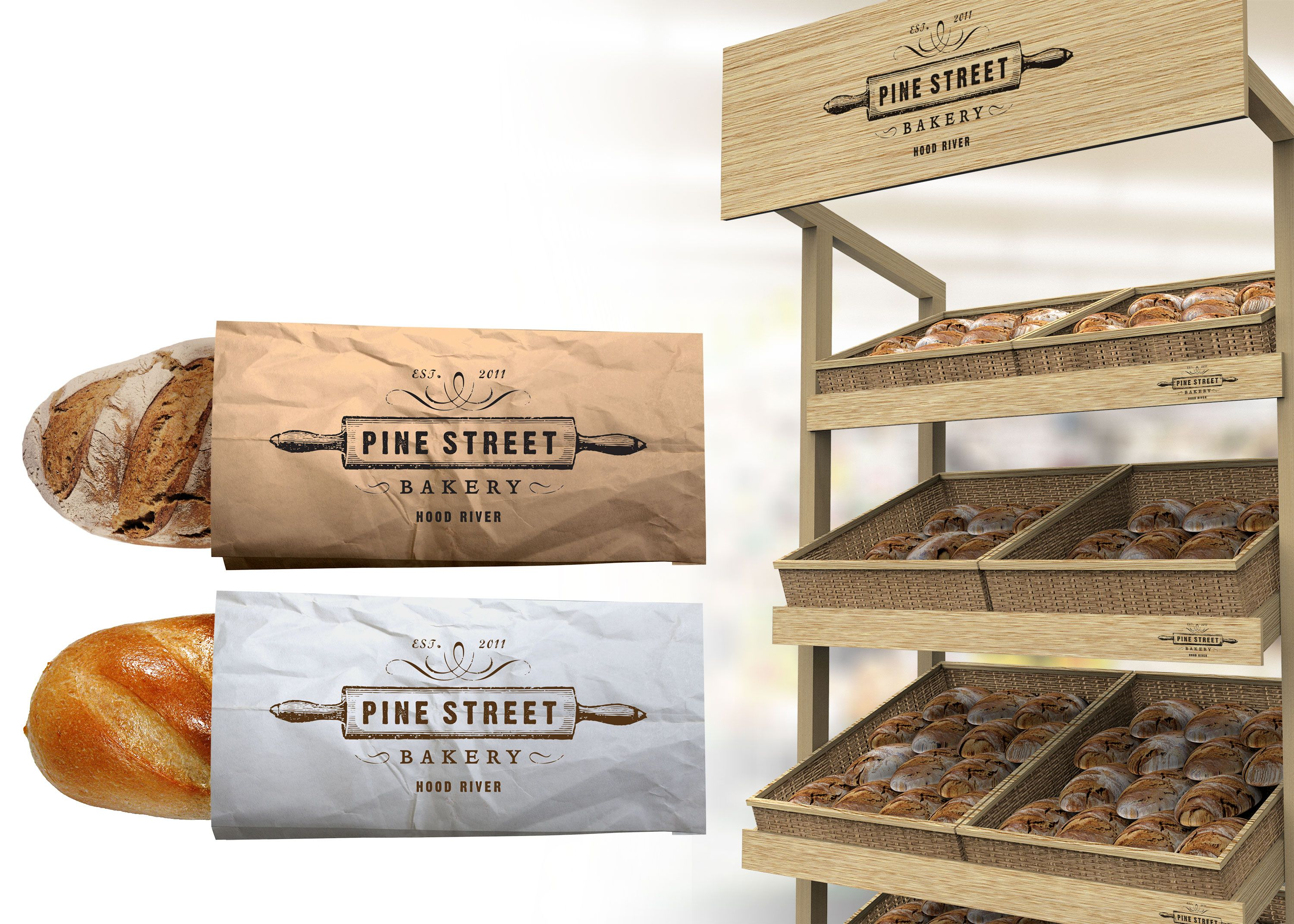 Download In Order To Help You Present A Logo Design Mockup To Your Client In A Super Polished Way We Ve Gathered The Free Bre Bread Packaging Logo Design Mockup Mockup
