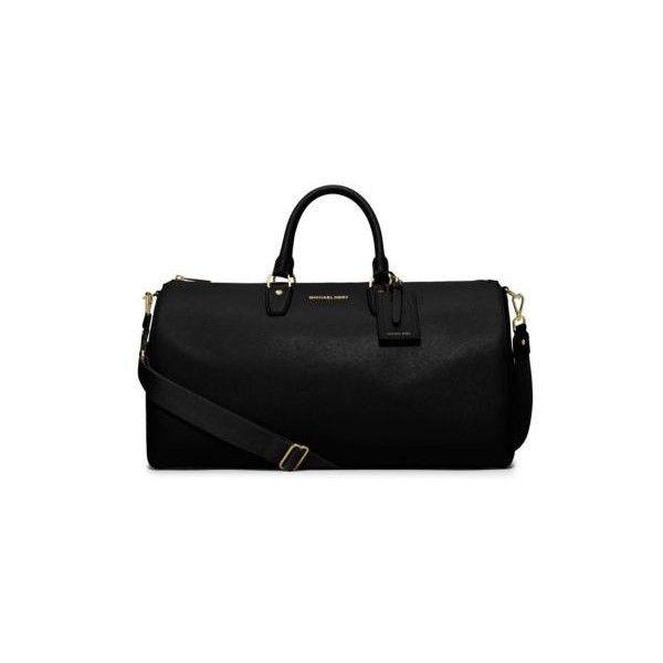 f8825f495b1 Michael Kors Jet Set Large Leather Weekender, Black ( 398) ❤ liked on  Polyvore