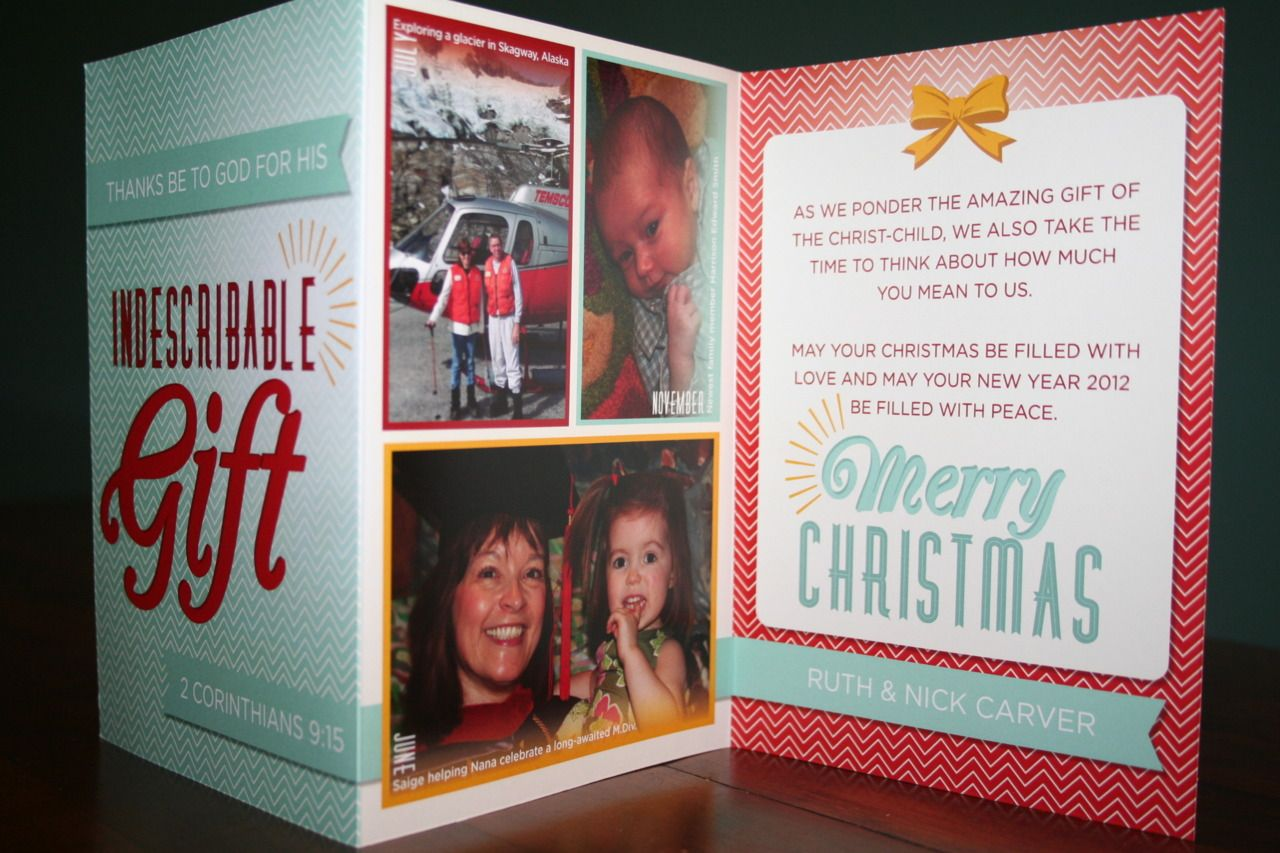 tri fold christmas story card - Tri Fold Christmas Cards
