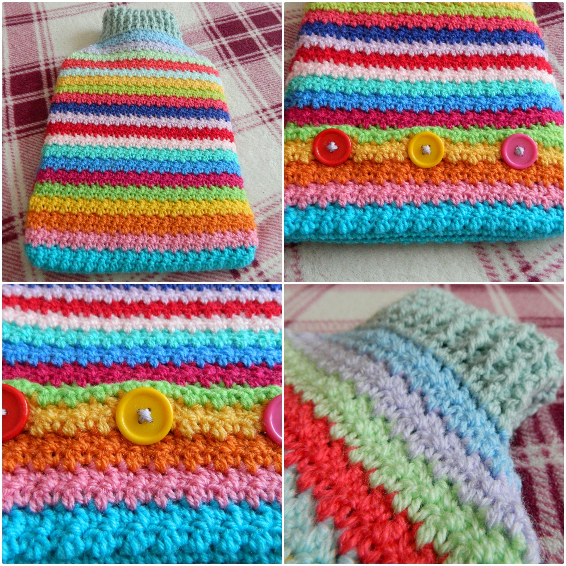 Crochet hot water bottle cover | Stuff to Try | Pinterest | Water ...