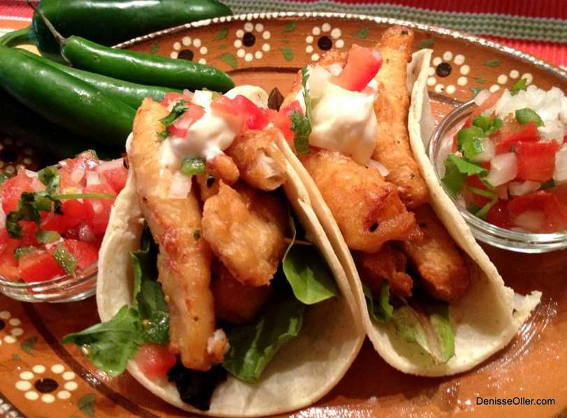 Fish tacos with pico de gallo and white sauce recipe for Sauces for fish tacos