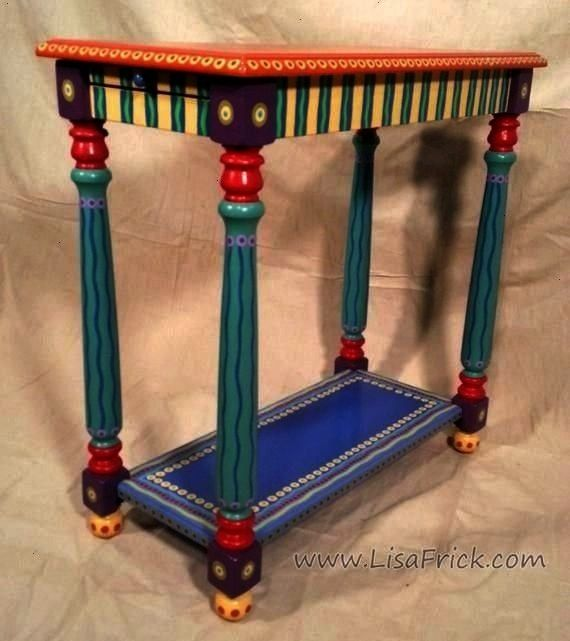CUSTOM WORK Side Table Custom Hand Painted Furniture Made to order SOLD sample of CUSTOM WORK Side Table Custom Hand Painted Furniture Made to order Diy AbschnittSOLD sam...